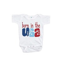 Custom Party Shop Baby's Born in the USA 4th of July Onepiece