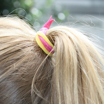 25 Ribbon Hair Ties for Fall in Bright Colors - Girl's Ponytail Holders - You Pick Colors - Fabric Hair Bands - Gentle Ponytail Holders