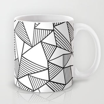 Abstraction Lines Black on White Mug by Project M | Society6