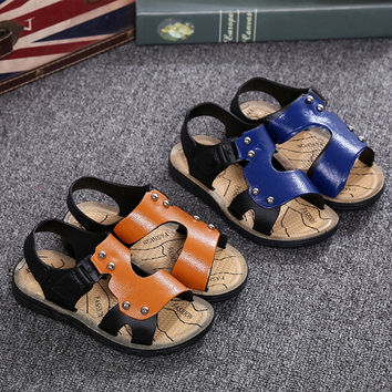 Deals Blast: Boys Summer Sandals PU Leather Fashion baby shoes Children Beach Sandals Shoes Sandals Boys Girls Slippers Kids Shoes