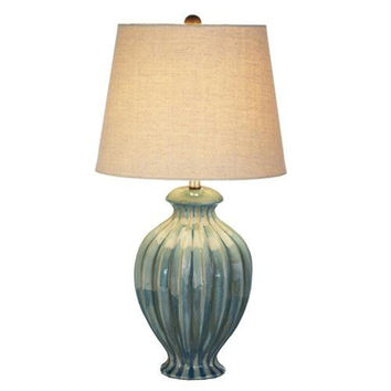 2 Table Lamps - Turquoise Blue