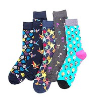 Winter men's socks casual socks high-end business men and socks fashion socks high-quality color combed cotton material 5 pairs