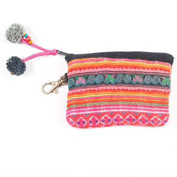 Vintage Hmong Hill Tribe Coin Purse (Thailand) - Style 13