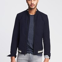 Banana Republic Mens Navy Bomber Jacket