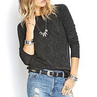 FOREVER 21 Marled Knit Top