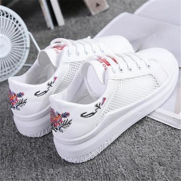 Women's shoes 2018 spring summer new Superstar Sneakers women's shoes Harajuku wild white shoes mesh breathable casual shoe