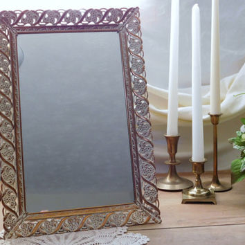 Gold Mirrored Vanity Tray