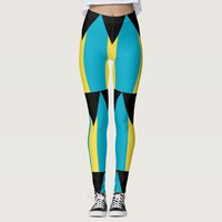 Leggings with flag of Bahamas