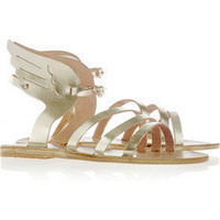 Ancient Greek Sandals | Ikaria metallic leather wing sandals | NET-A-PORTER.COM