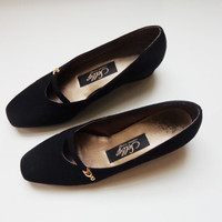 Vintage mary jane style Selby black flat shoes 6.5-7