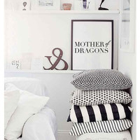 """Typography Poster """"Mother Of Dragons"""", Mom Poster, Mother Poster Inspirational Print, Bedroom Decor, Typography Art, Wall Decor."""
