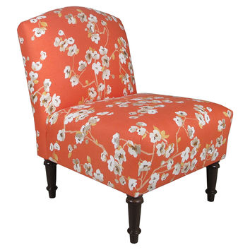 Clark Armless Linen Chair, Orange, Accent & Occasional Chairs