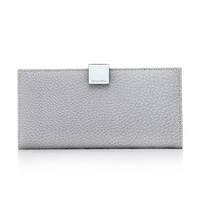 Tiffany & Co. -  Continental wallet in frost textured leather. More colors available.