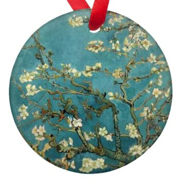 Vincent Van Gogh Almond Blossoms Double Sided Porcelain Ornament
