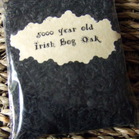 5000 year old Irish Bog Oak  wood Pagan Wicca herbs blends rituals circle work Altar work Wicca witch pagan