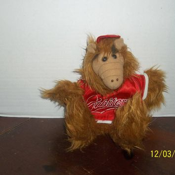 "vintage 1988 alien productions alf baseball orbiters plush hand puppet 12"" tall"