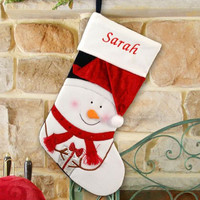 Frosty and a present Christmas Stocking