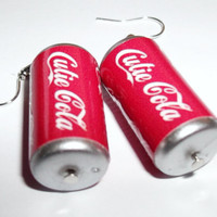 Cola Earrings Soda Can Charm Earrings by KitschBitchJewellery