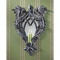 SheilaShrubs.com: Double Trouble Gothic Dragon Mirrored Wall Sculpture CL5472 by Design Toscano: Wall Sculptures