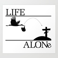 Life Alone Art Print by Knm Designs