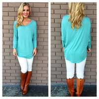 Mint Long Sleeve Modal Tunic Top