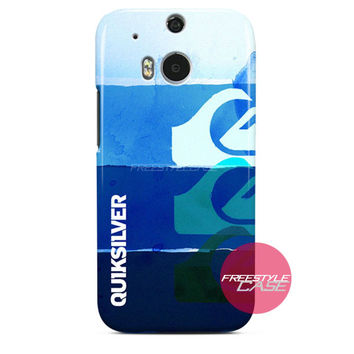 Quicksilver Cloth Surf Wave HTC One Case M8 M7 One X Cover