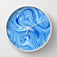 Ice Flow Wall Clock by Alice Gosling