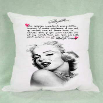 Hot Marilyn Monroe Quotes High Quality Pillow Case Cushion 16 18 20 2 Side Cover