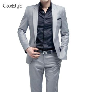 Cloudstyle 2018 New Arrival Mens Suit Pattern Blazer Fashion Business Wedding Party Dress With Jacket Slim Fit Costume Homme