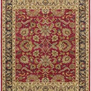 Willow Lodge Classic Area Rug Red, Brown