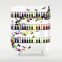 song birds Shower Curtain by cindys