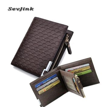 Men's Leather Wallets zipper Card Holder Men Coin Purse designer men wallets famous brand leather wallet with coin pocket