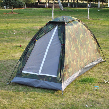 1-2 Person Camo Tent with Waterproof Floor