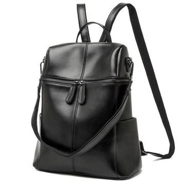 Genuine Leather Chic Women's Backpack