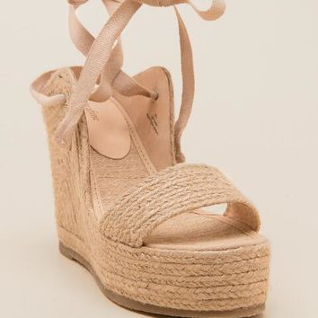 Extrafine Sugar, Scarecrow Lace-Up Espadrille Wedge
