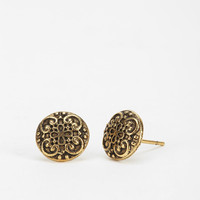Sculpted Filigree Gift Card Earring - Urban Outfitters