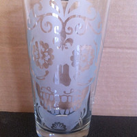 Sugar Skull Pint Glass Etched (Day of the Dead)
