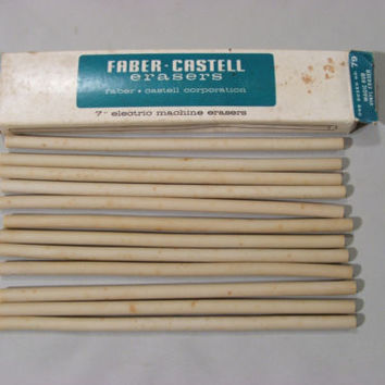 "Faber Castell Eraser Strips Vintage Magic Rub #79 Machine Erasers 7"" Long NOS"