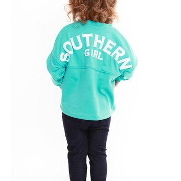 Toddlers Southern Girl Puffy Print Loose Jersey , Mint