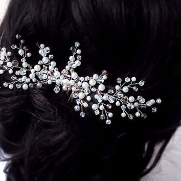 Crystal Hair Comb, Hair Comb, Wedding Hair Comb, Hair Accessories, Crystal Comb, Bridal Hair Piece by Loveknittings