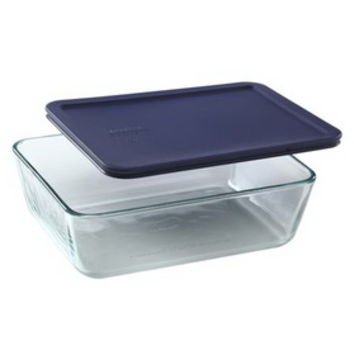 Opentip.com: PYREX 6017400 Simply Store 11 Cup Rectangular Dish w/ Blue Lid