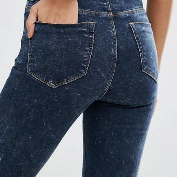 ASOS RIDLEY Skinny Jeans in Prairie Acid Wash at asos.com