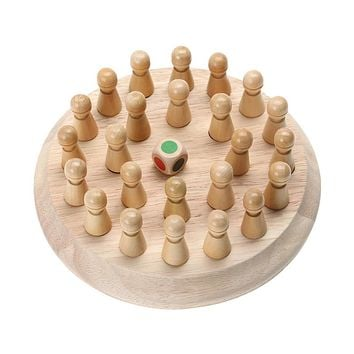 Kids Wooden Memory Match Stick Chess Game Children Early Educational 3D Puzzle Family Party Casual Game Puzzles