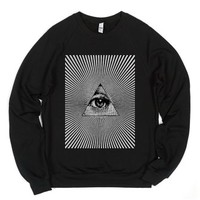 Illuminati-Unisex Black Sweatshirt