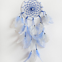 DreamCatcher, Boho Dreamcatcher, Handmade, Wall Hanging, Home Decor, Feathers , Gypsy, Blue Dreamatcher