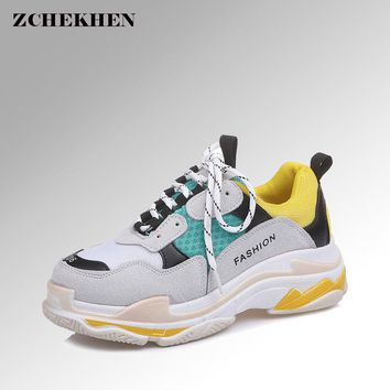 Spring Summer Casual Mesh Shoes lovers Flat Shoes Lace Up Breathable Footwear Female Vintage sneaker Trainers Sapatos Masculino