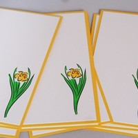 Daffodil Stationery All Occasion Flat Note Card Set of Ten