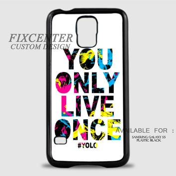 YOLO WHITE - Samsung Galaxy S5 Case
