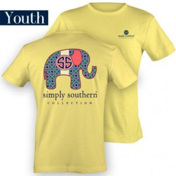 Youth Simply Southern Elephant T-Shirt
