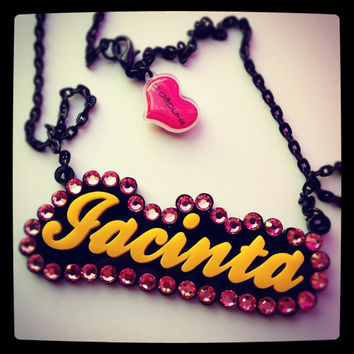 BLING BLING name Necklace by didepux on Etsy